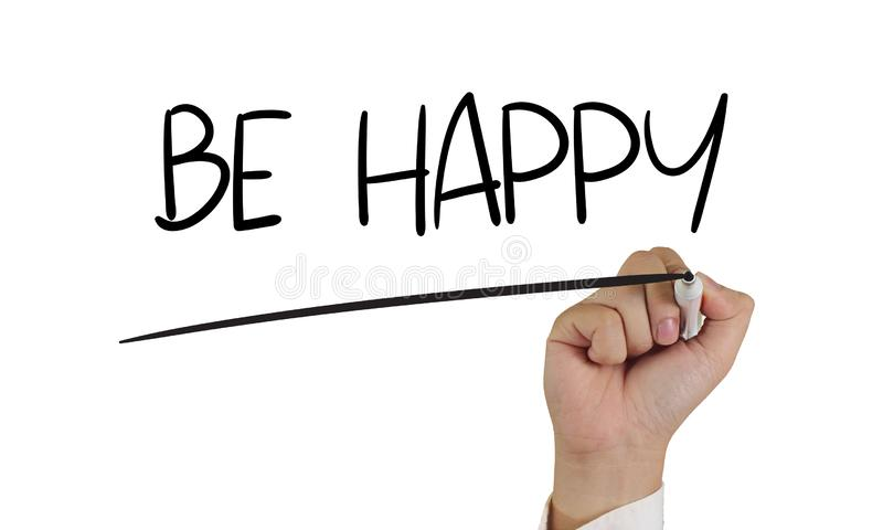 be happy motivational business words quotes concept stock photo