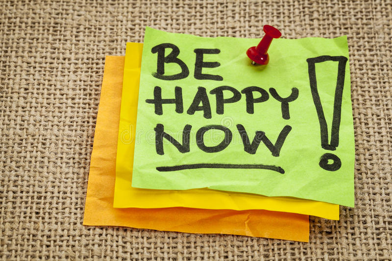 Be Happy Now Royalty Free Stock Images