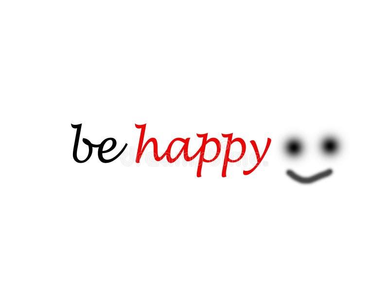 Be happy word stock illustration
