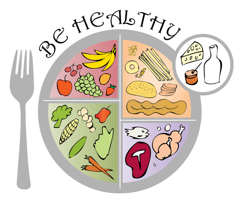 Be Healthy royalty free illustration