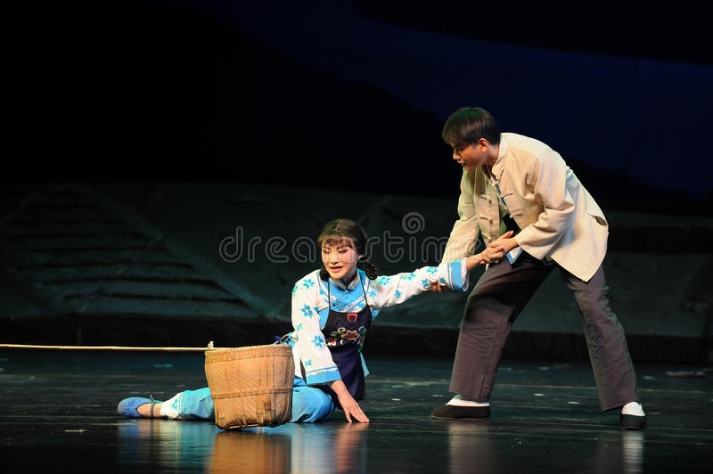 Be helped- Jiangxi opera a steelyard. Jiangxi opera a steelyard is adapted from a true story: the last century fortys, the protagonists father runs an oil mill royalty free stock photo