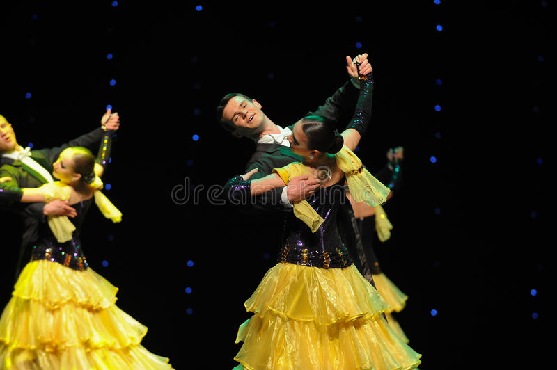 Be intoxicated-The French Cancan-the Austria's world Dance. Late on January 9, 2015, brought by Austria World Dance World Dance staged in Jiangxi Province Arts stock photography
