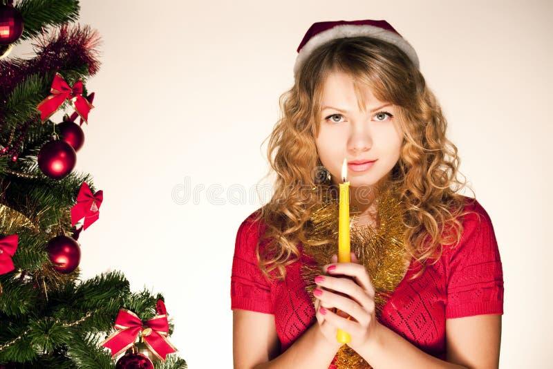 be kvinna för stearinljus royaltyfri fotografi