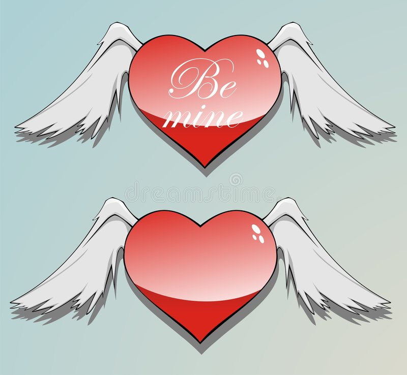 Download Be mine heart stock vector. Illustration of card, mine - 7665917