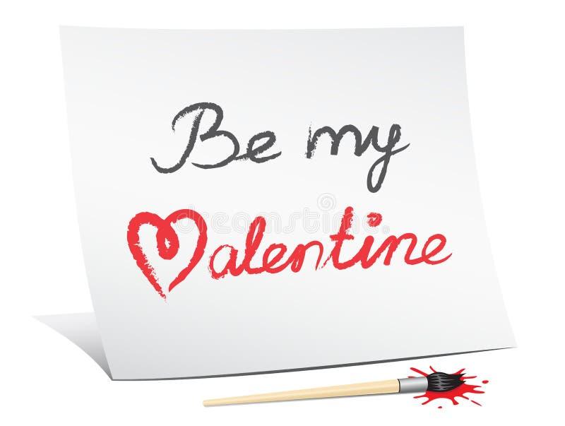 Be my valentine royalty free illustration
