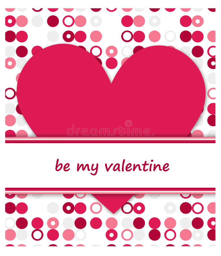 Download Be my valentine stock vector. Image of greeting, card - 26586929
