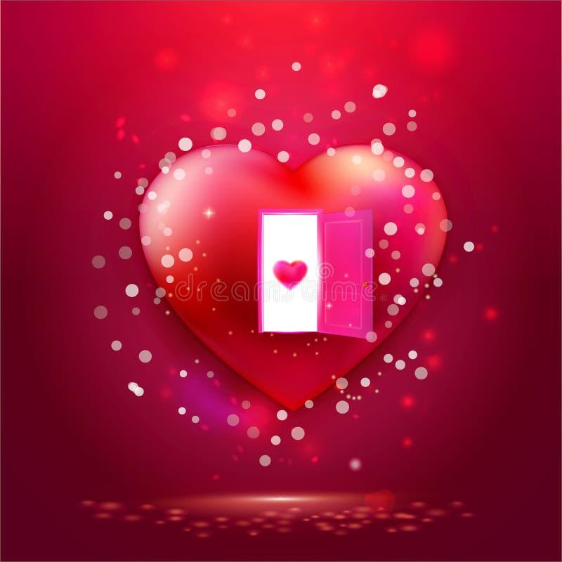 Be my Valentine on golden heart. Be my Valentine brush typography illustration. Handmade calligraphy for print, card, T-shirt. Hand drawn golden heart background stock illustration