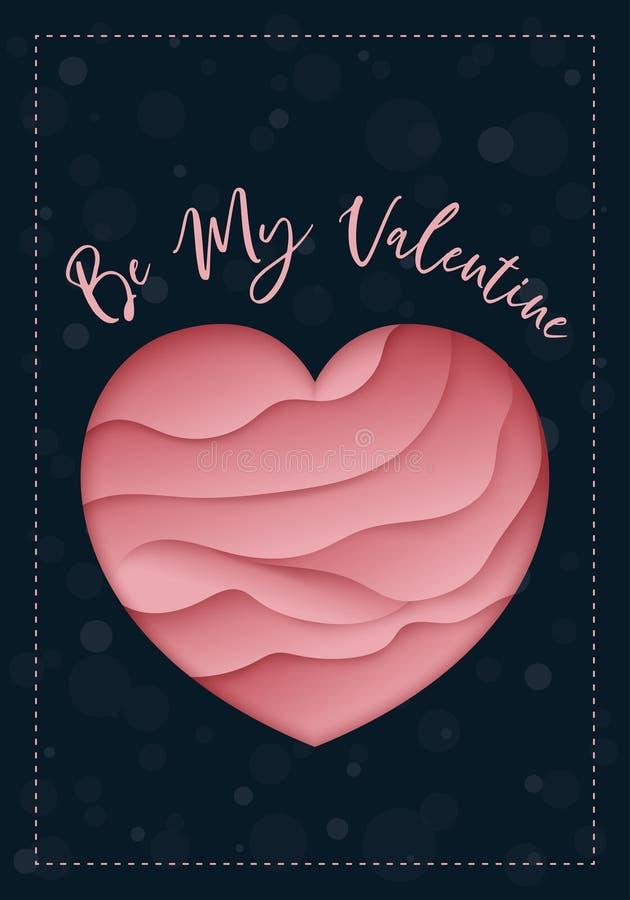 Be My Valentine greeting card concept. Stylish design royalty free illustration
