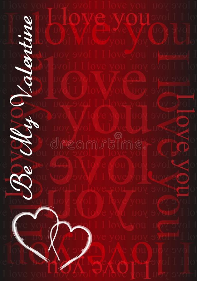 Be My Valentine - I Love You Card Royalty Free Stock Image