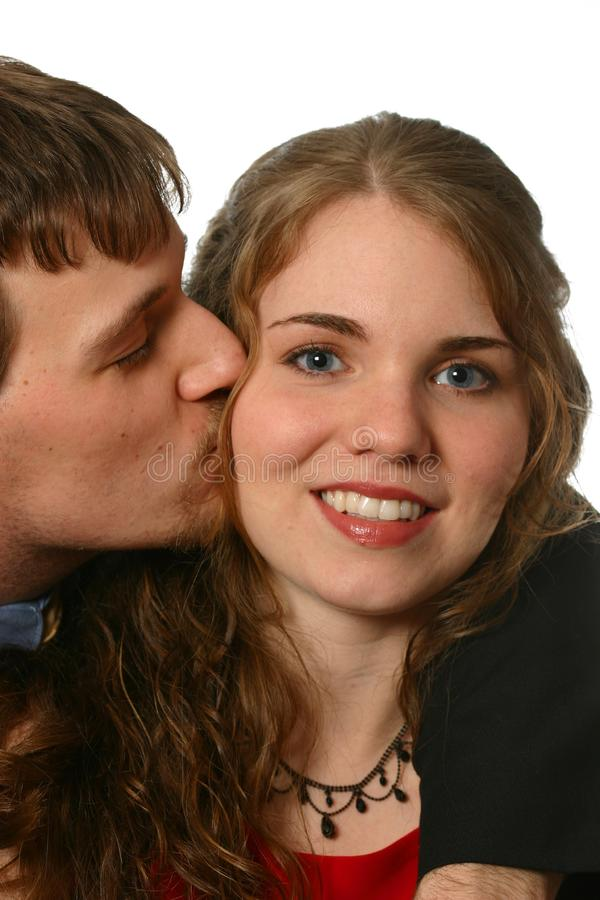 Be My Valentine Kiss royalty free stock images