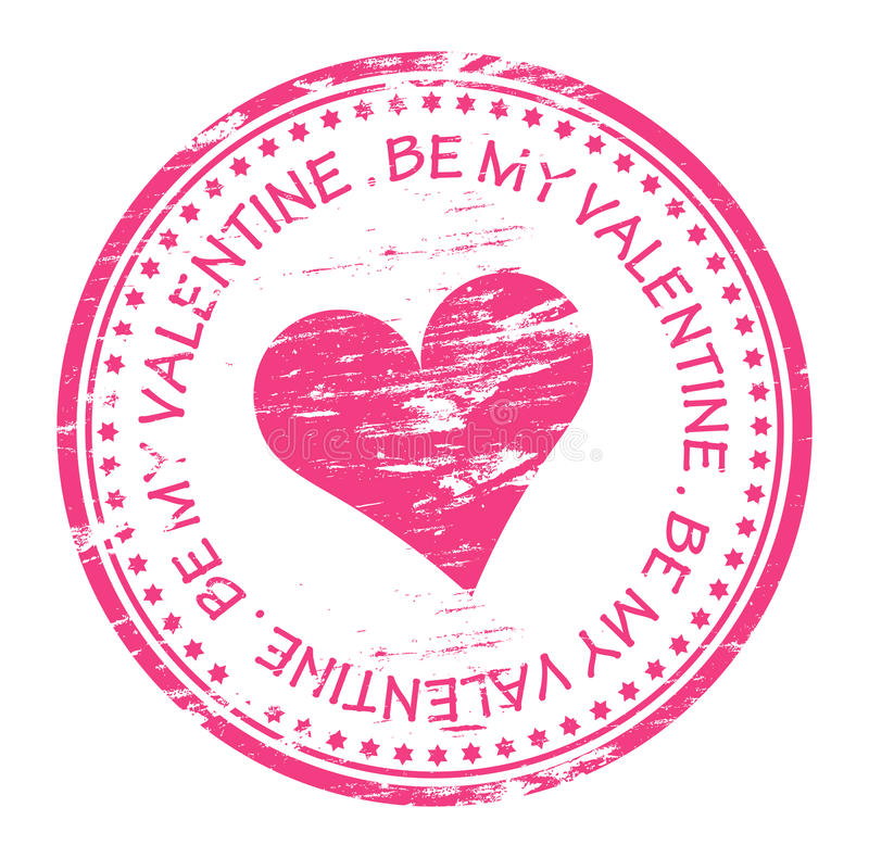 Be My Valentine Rubber Stamp Royalty Free Stock Image