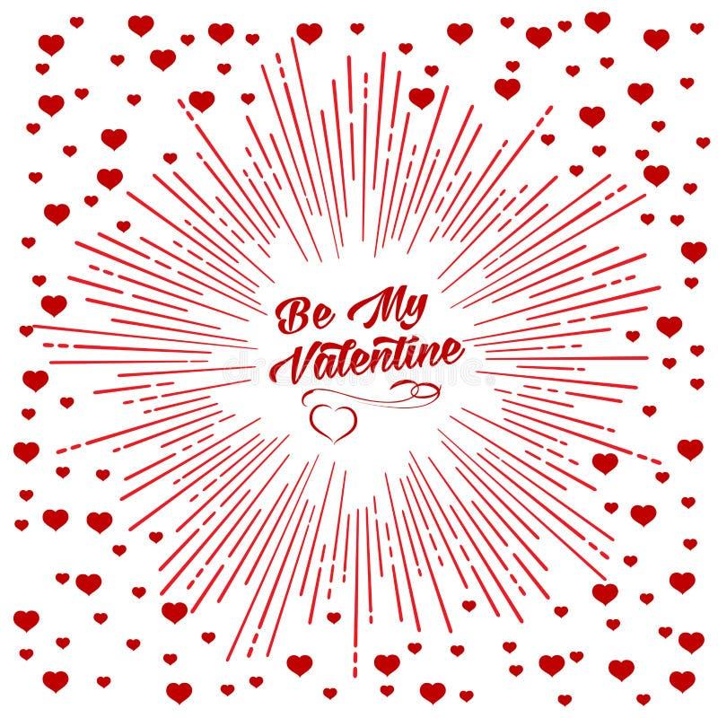 Be my Valentine starburst background royalty free illustration