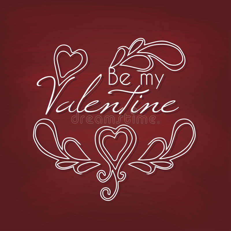 Be my Valentine. Vector illustration stock illustration