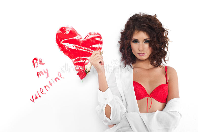 Download Be my Valentine stock photo. Image of brush, female, background - 36752010