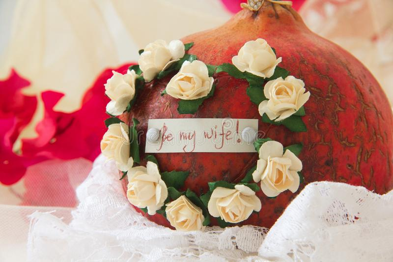Be my wife! royalty free stock image