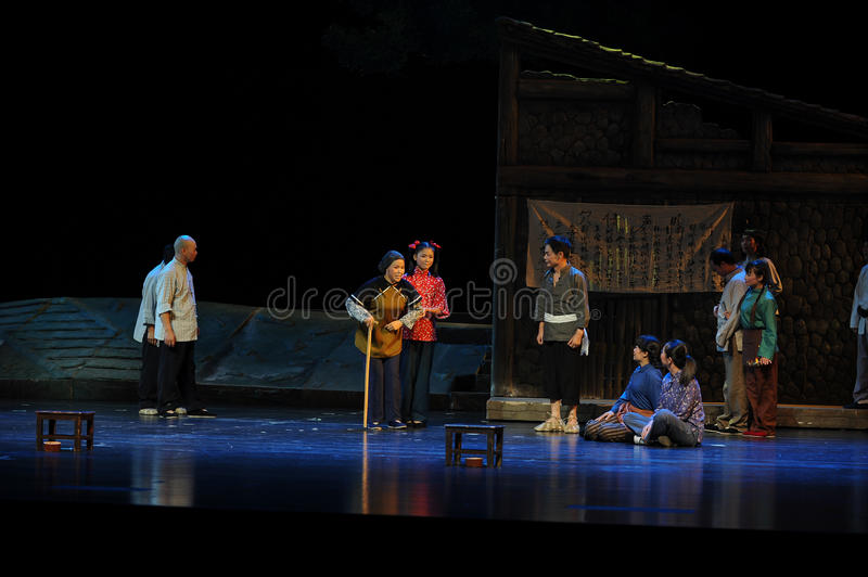 Be of noble character and high prestige of the elderly- Jiangxi opera a steelyard. Jiangxi opera a steelyard is adapted from a true story: the last century royalty free stock image