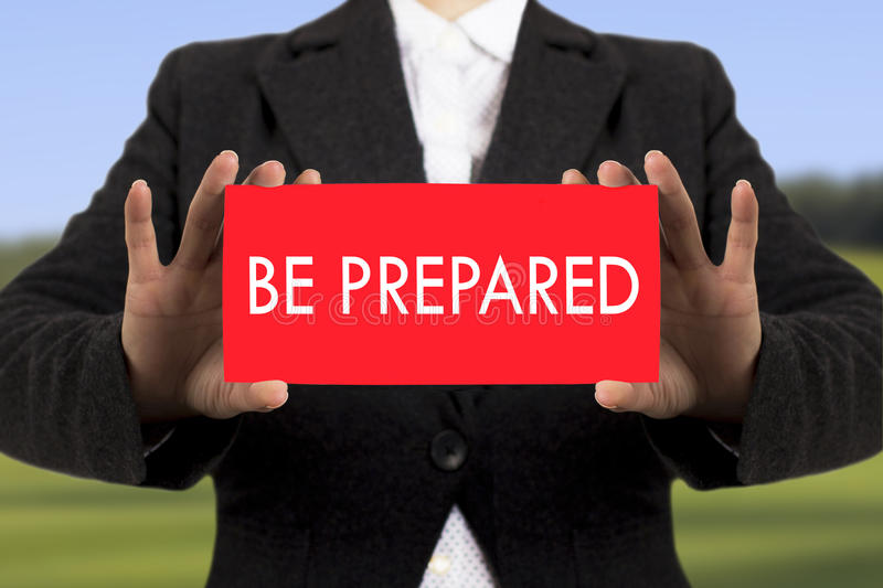 Be prepared stock photography