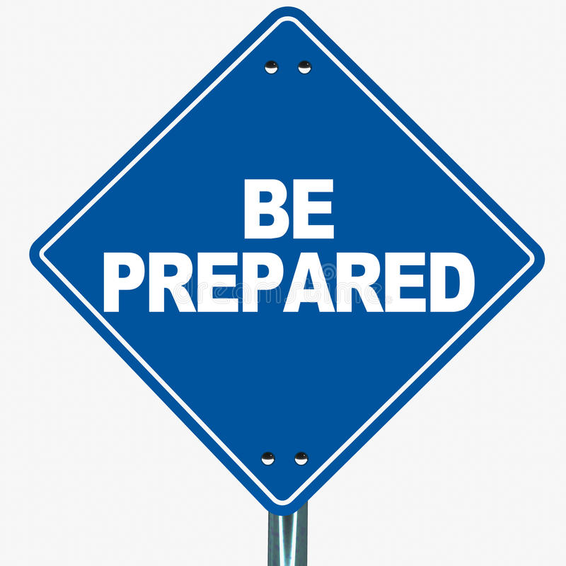Be prepared stock illustration