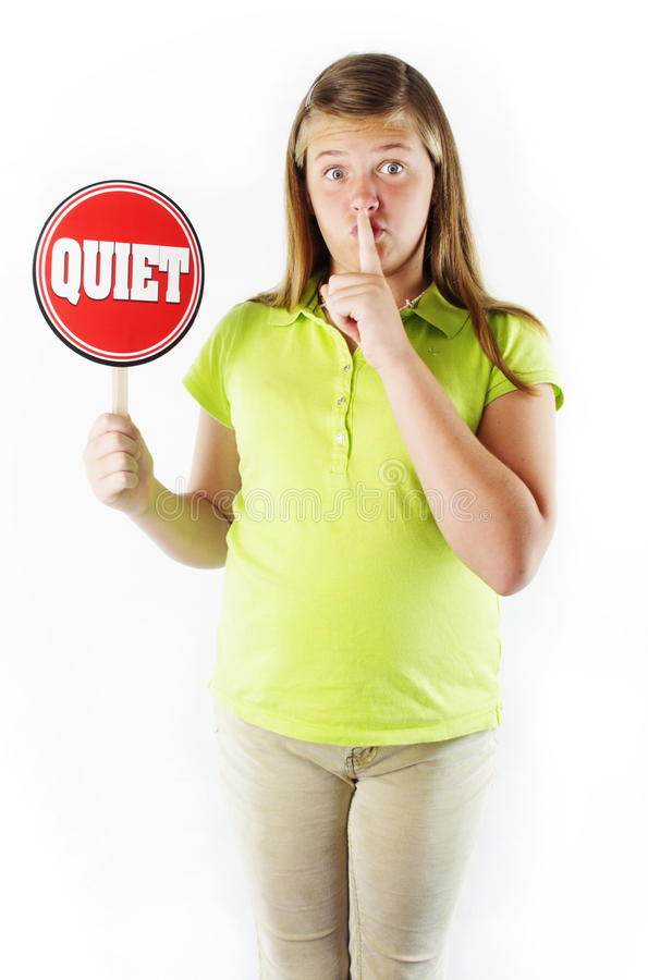 Download Be Quiet stock image. Image of education, watch, still - 20914235