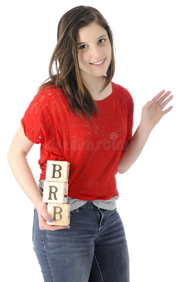 Be Right Back stock image