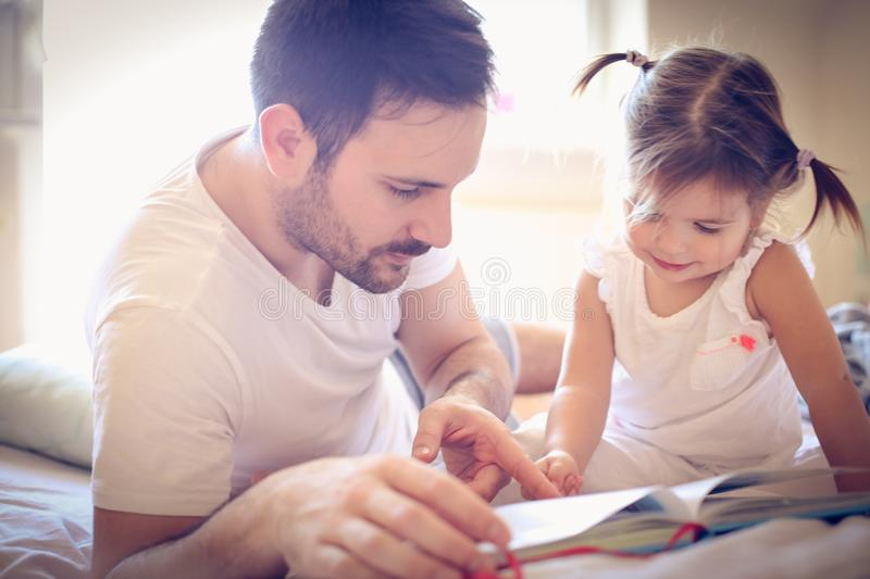 Be single parent is not easy but is full of love. Family time royalty free stock photos