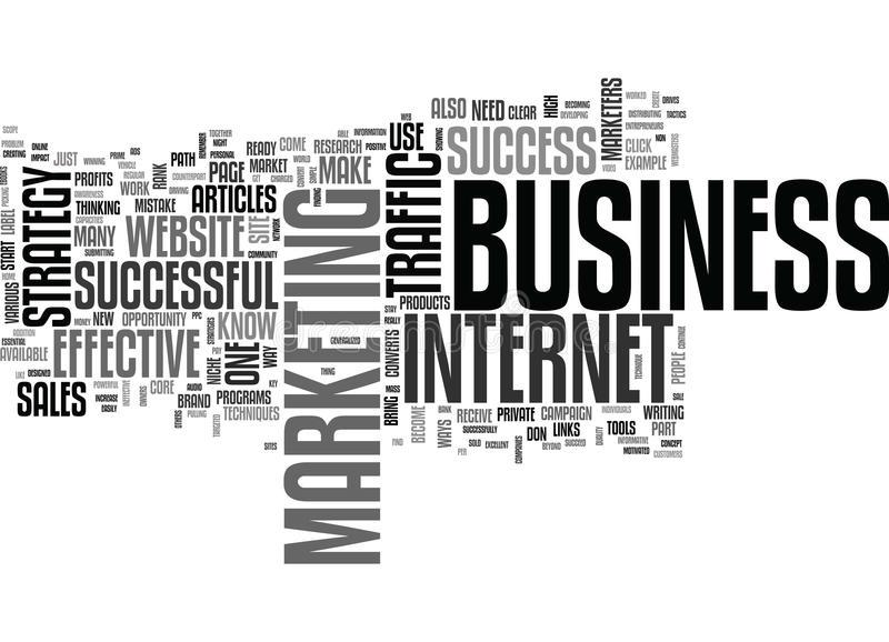 Be A Success In Your Business Word Cloud stock illustration