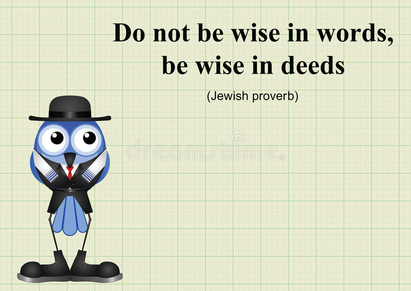 Be wise in deeds. Jewish proverb on graph paper background with copy space for own text vector illustration