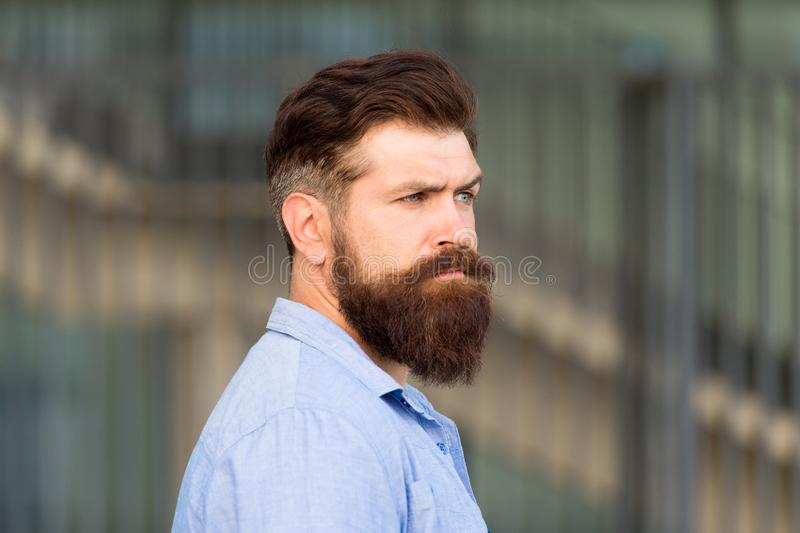 Be your best. brutal caucasian hipster. serious bearded man outdoor. Mature hipster with beard. Bearded man. Confident stock images