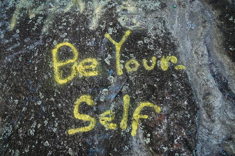 Be Your-Self Graffiti royalty free stock images