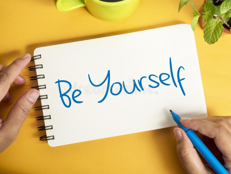 Be Yourself, Motivational Business Words Quotes Concept royalty free stock photos