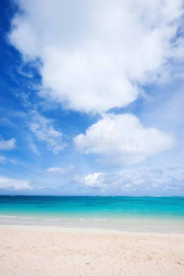 Download The Beach stock image. Image of paradise, ocean, clouds - 10117275