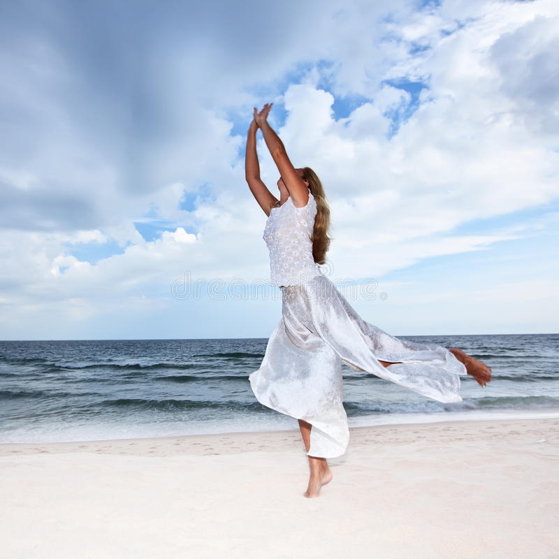 Download Beach stock image. Image of dress, blowing, dancing, islands - 12918027