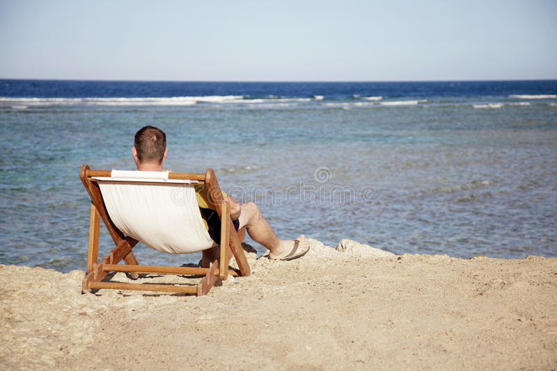 Download On beach stock photo. Image of chaise, ocean, furniture - 15008722