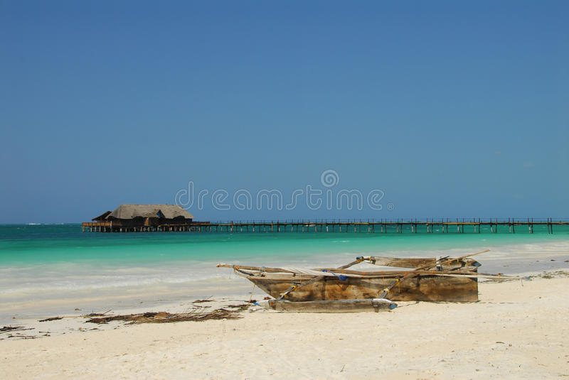 Beach. Kiwengwa beach in Zanzibar, Tanzania stock photo