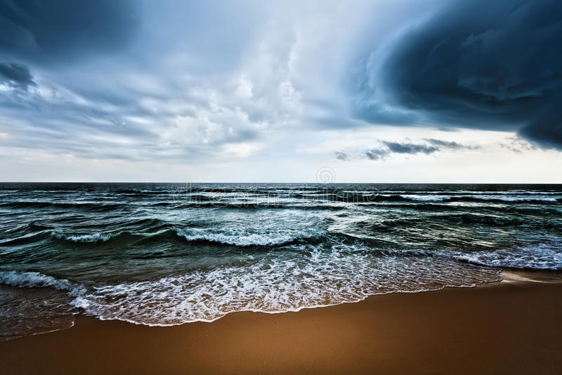 Beach. Beautiful beach and dramatic sky. Stormy weather