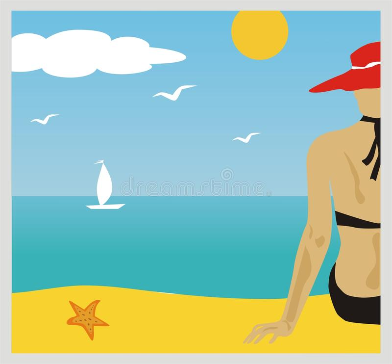 Download Beach stock vector. Image of lifestyles, nature, beautiful - 15844449