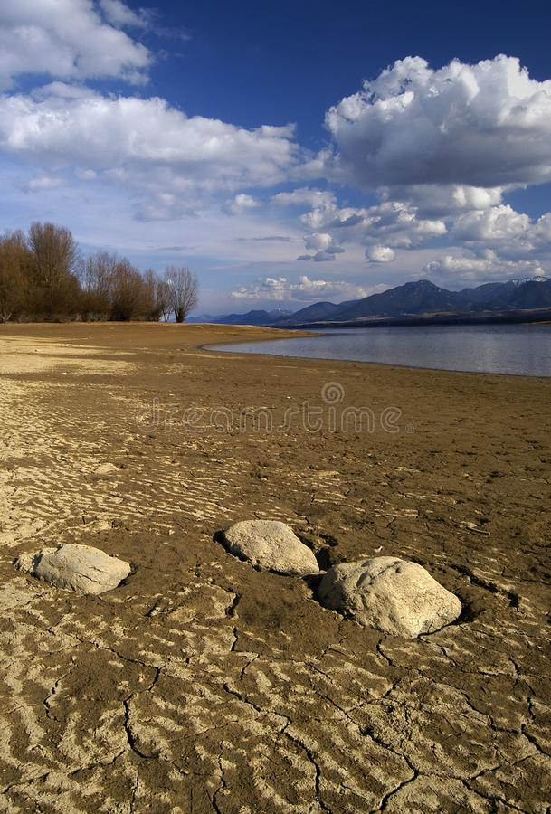 Beach. Around Liptov mary, which is used to relax, and fishing stock images