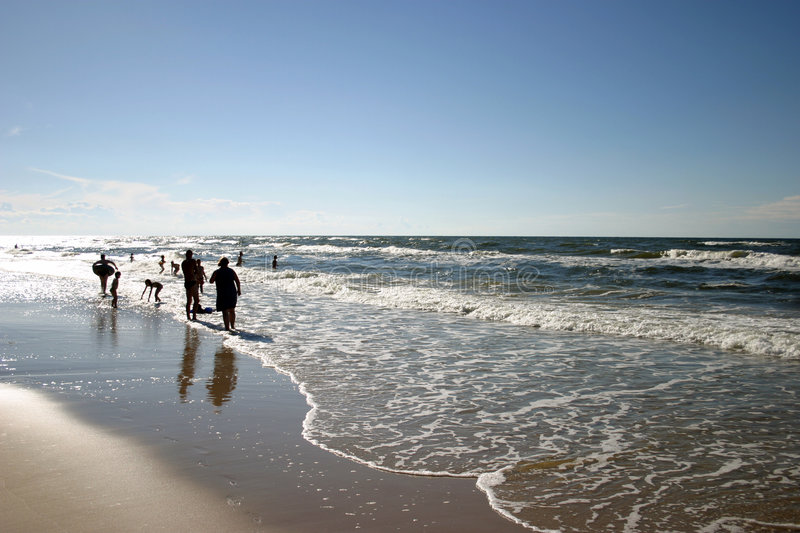 Download On The Beach Royalty Free Stock Image - Image: 193316