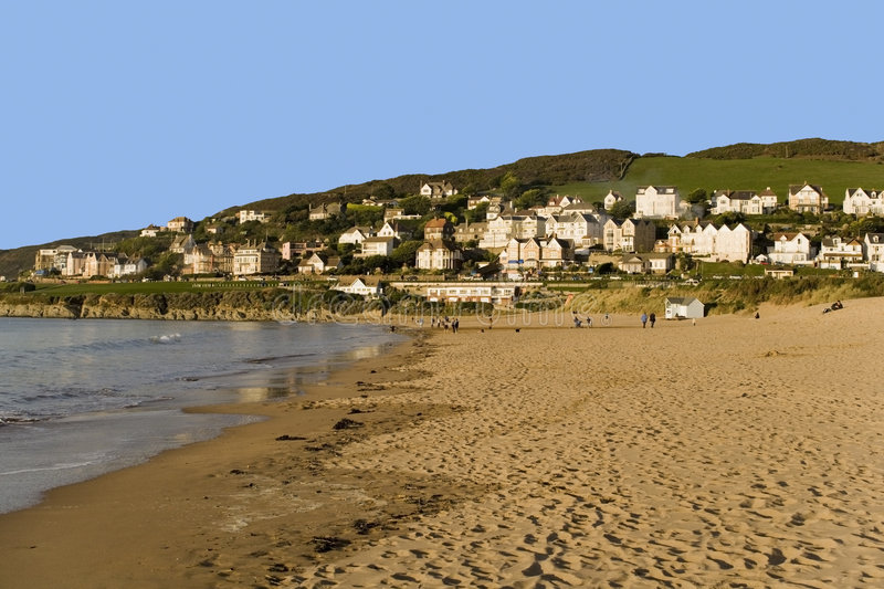 Download Beach stock photo. Image of devon, house, holidays, housing - 1978560