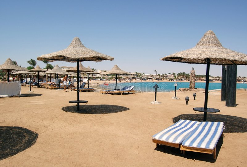 Beach. Red sea beach in morning time royalty free stock photos