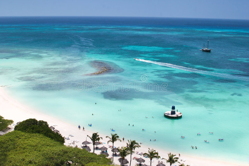 Download The Beach stock image. Image of island, tropical, ship - 5357669