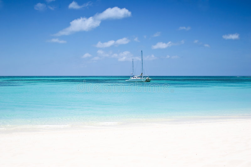 Download The beach stock photo. Image of tropic, relax, ship, coast - 5357892