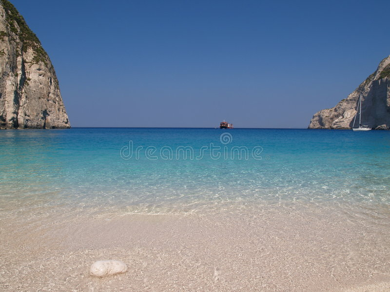 Download Beach stock photo. Image of zakinthos, tropical, sand, zande - 542652