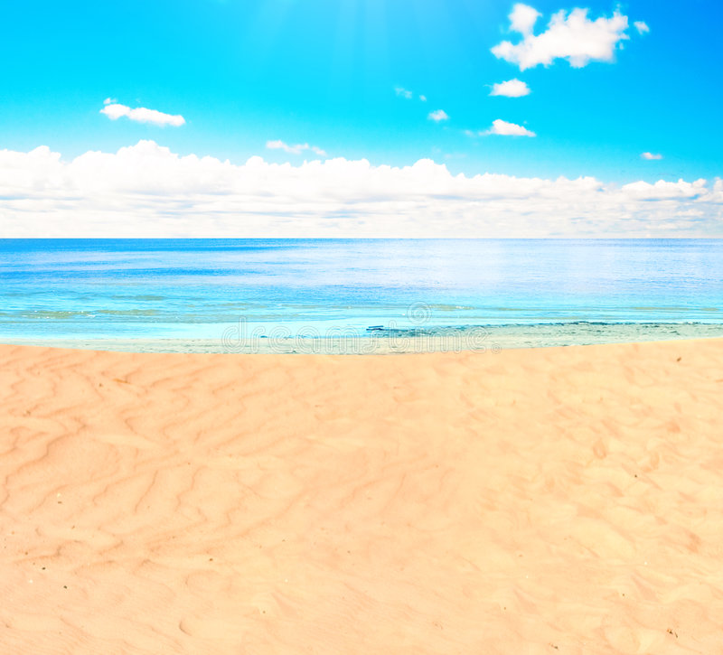 On a beach royalty free stock photography