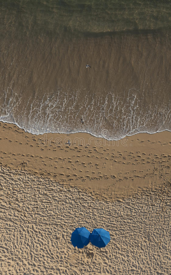 Beach from Above stock photos