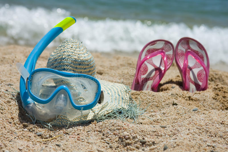 Beach accesories royalty free stock images
