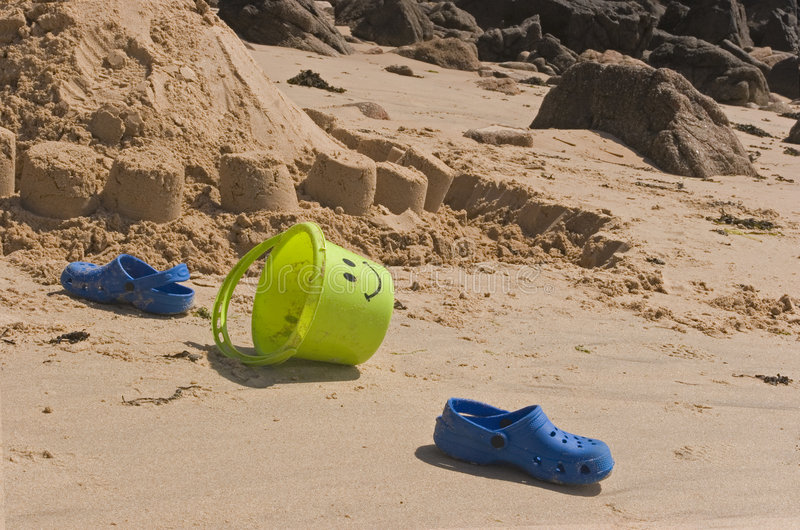 Beach accessories royalty free stock image