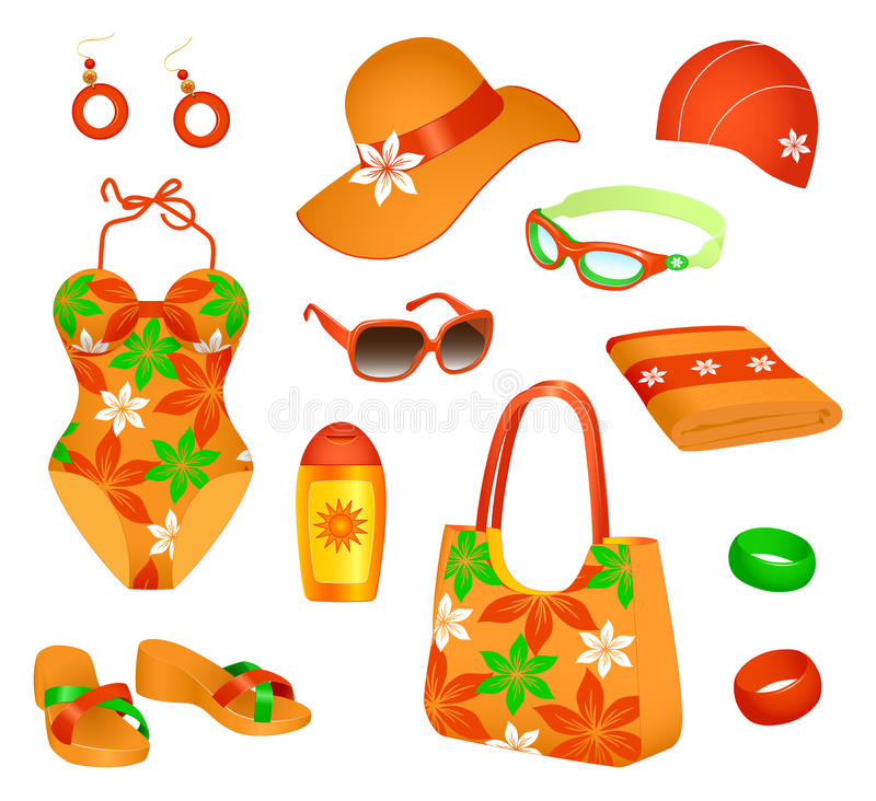Beach Accessories For Woman Stock Photography
