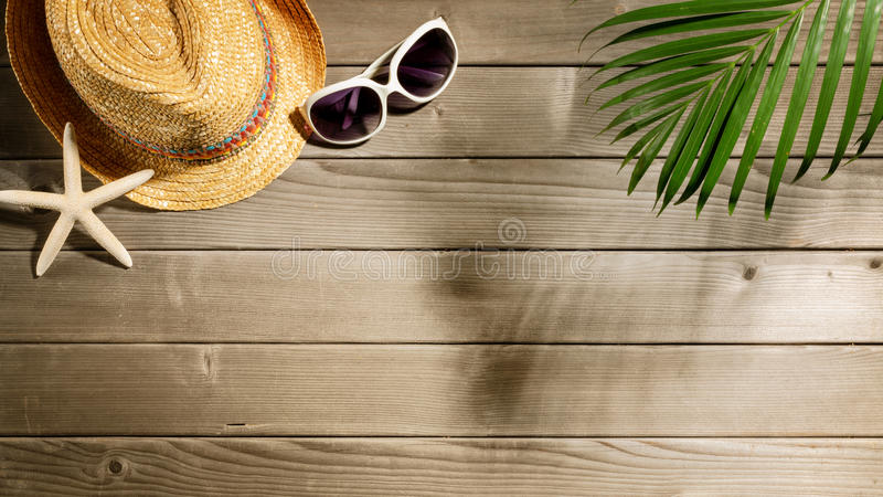 Beach accessories royalty free stock photos