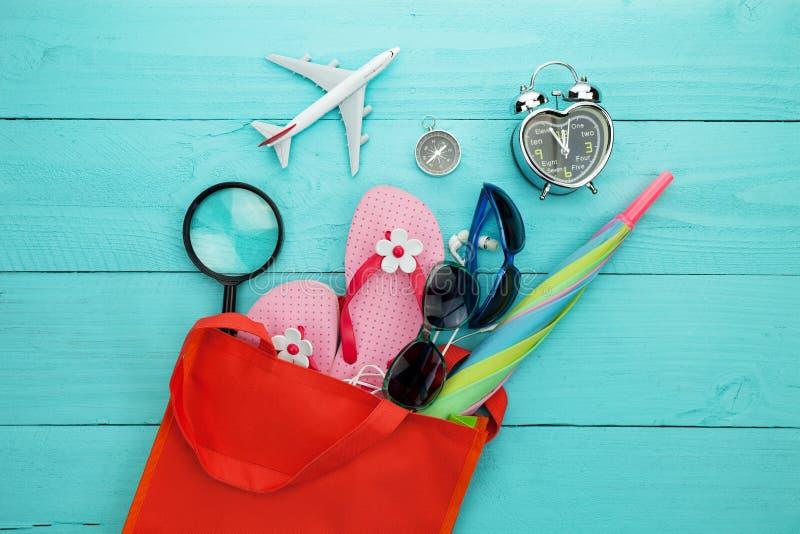 Beach accessory, hat, sunglasses, shoes, umbrella, airplane model, ear stock photos